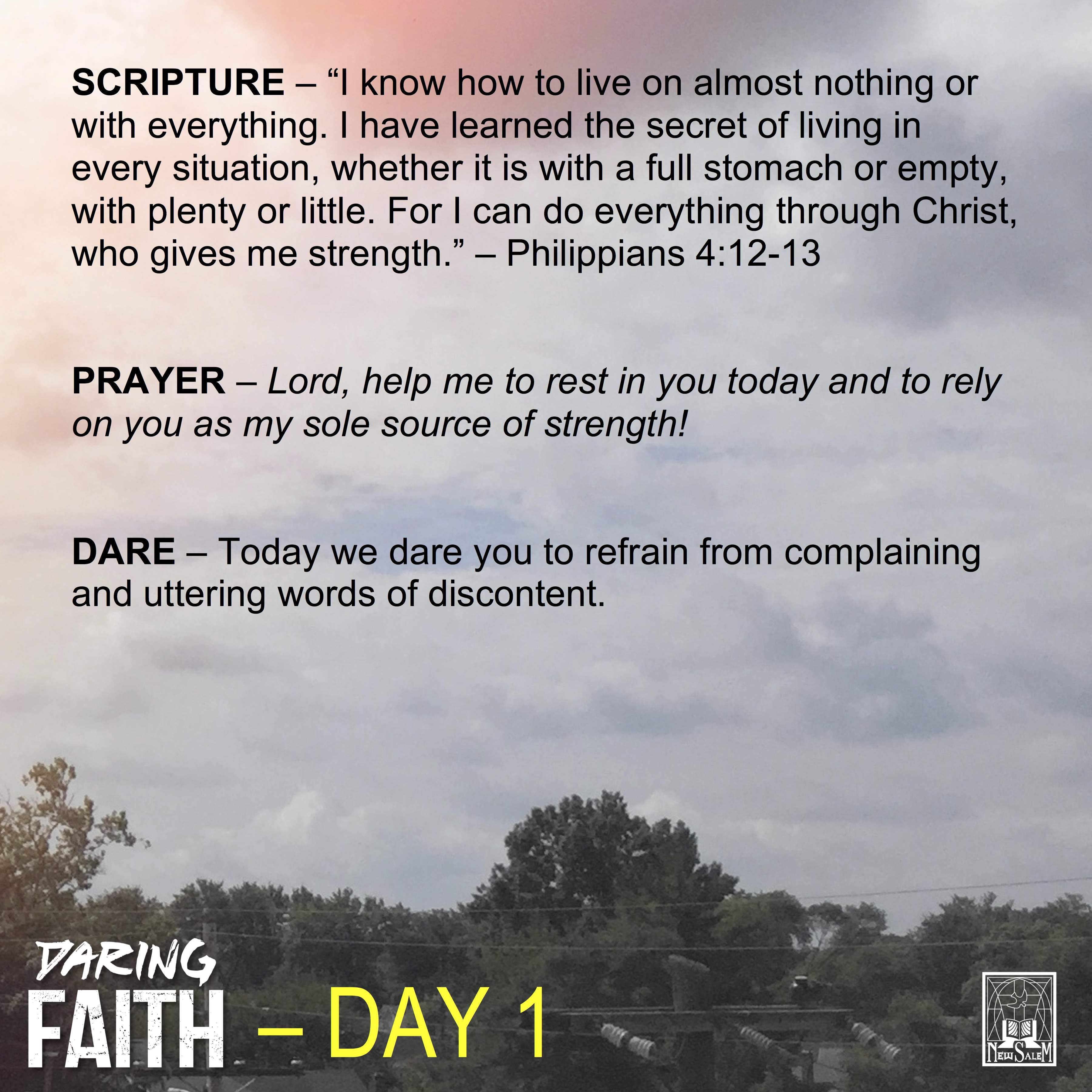Dare-A-Day Devotional - Day 1