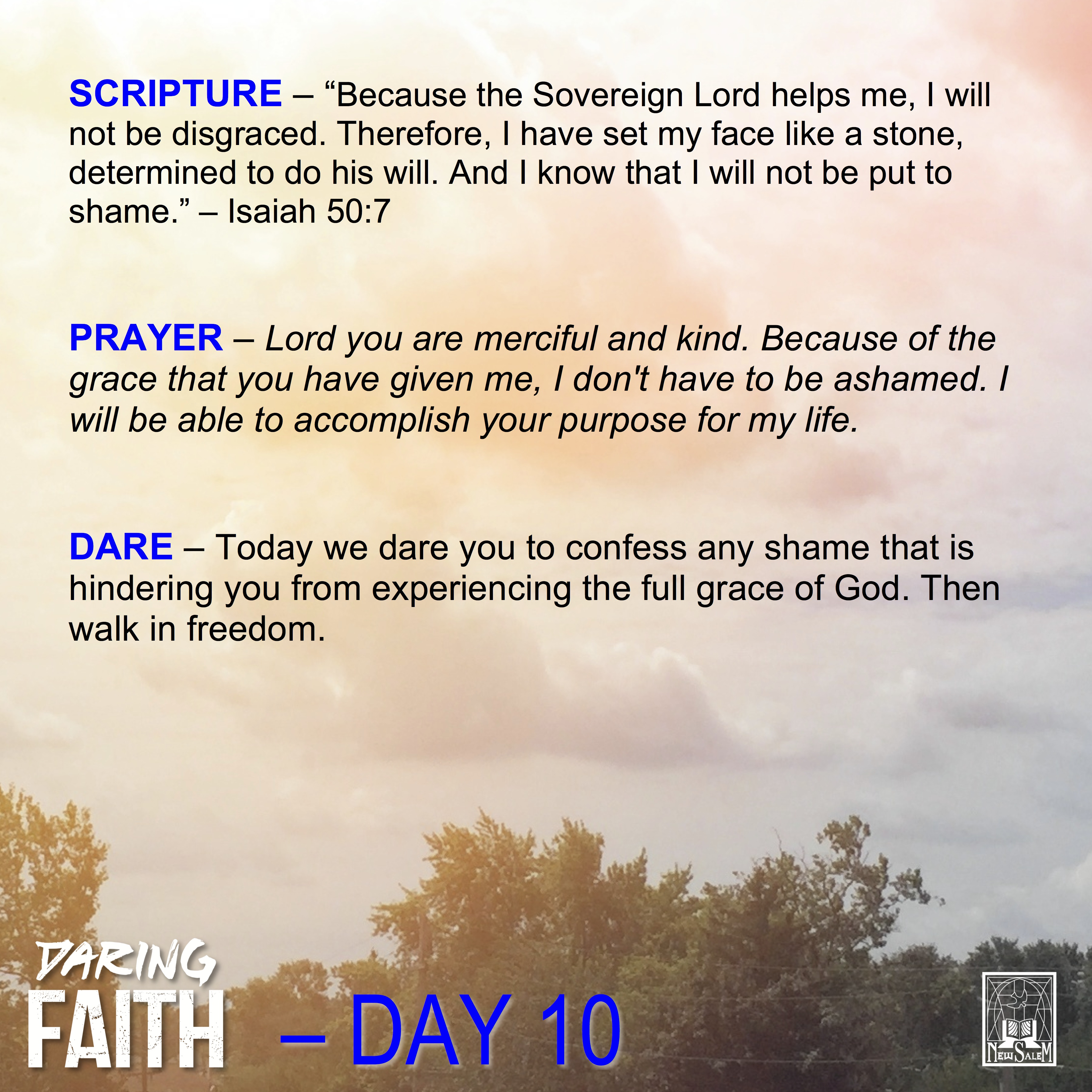 Daring Faith Devotional - Day 10