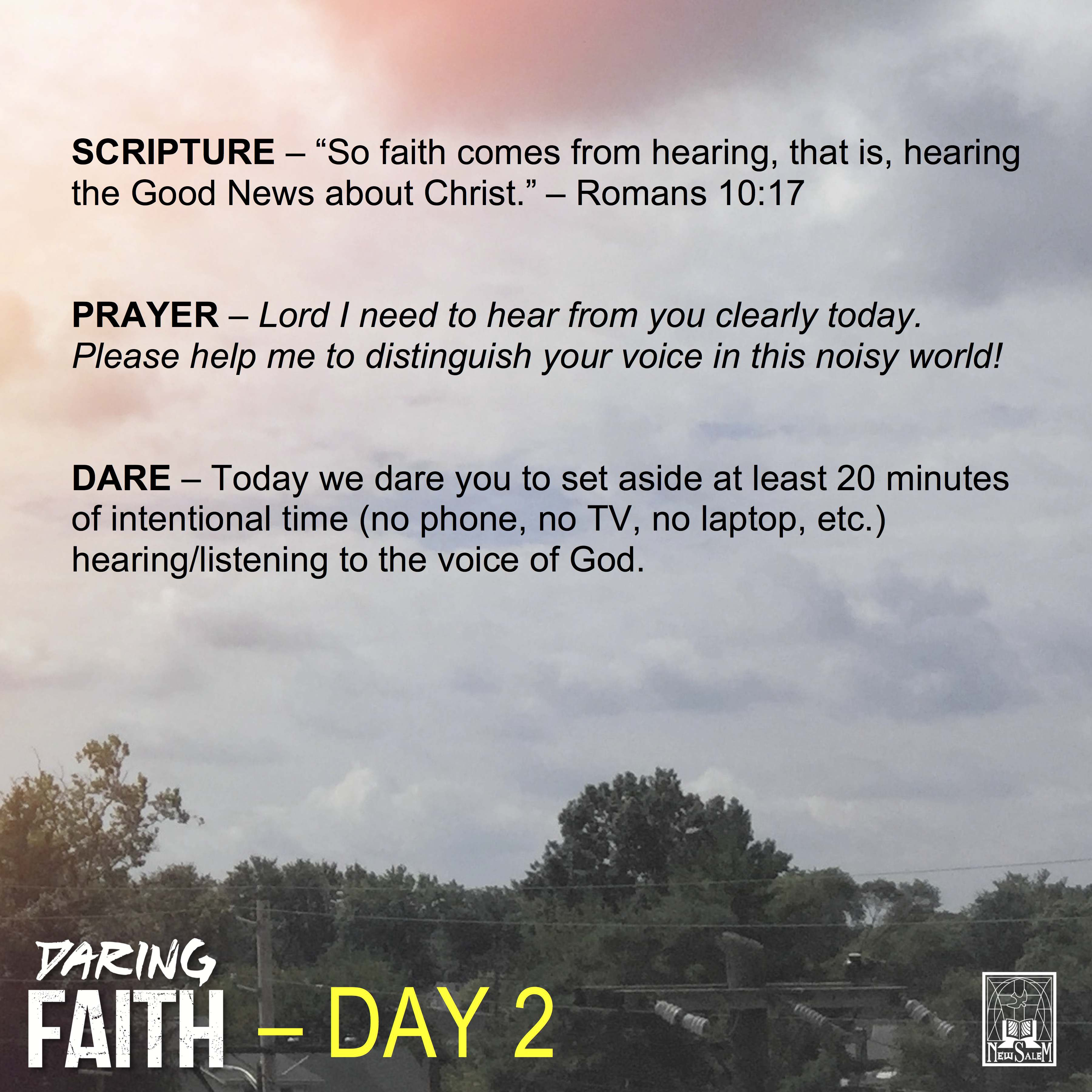 Dare-A-Day Devotional - Day 2