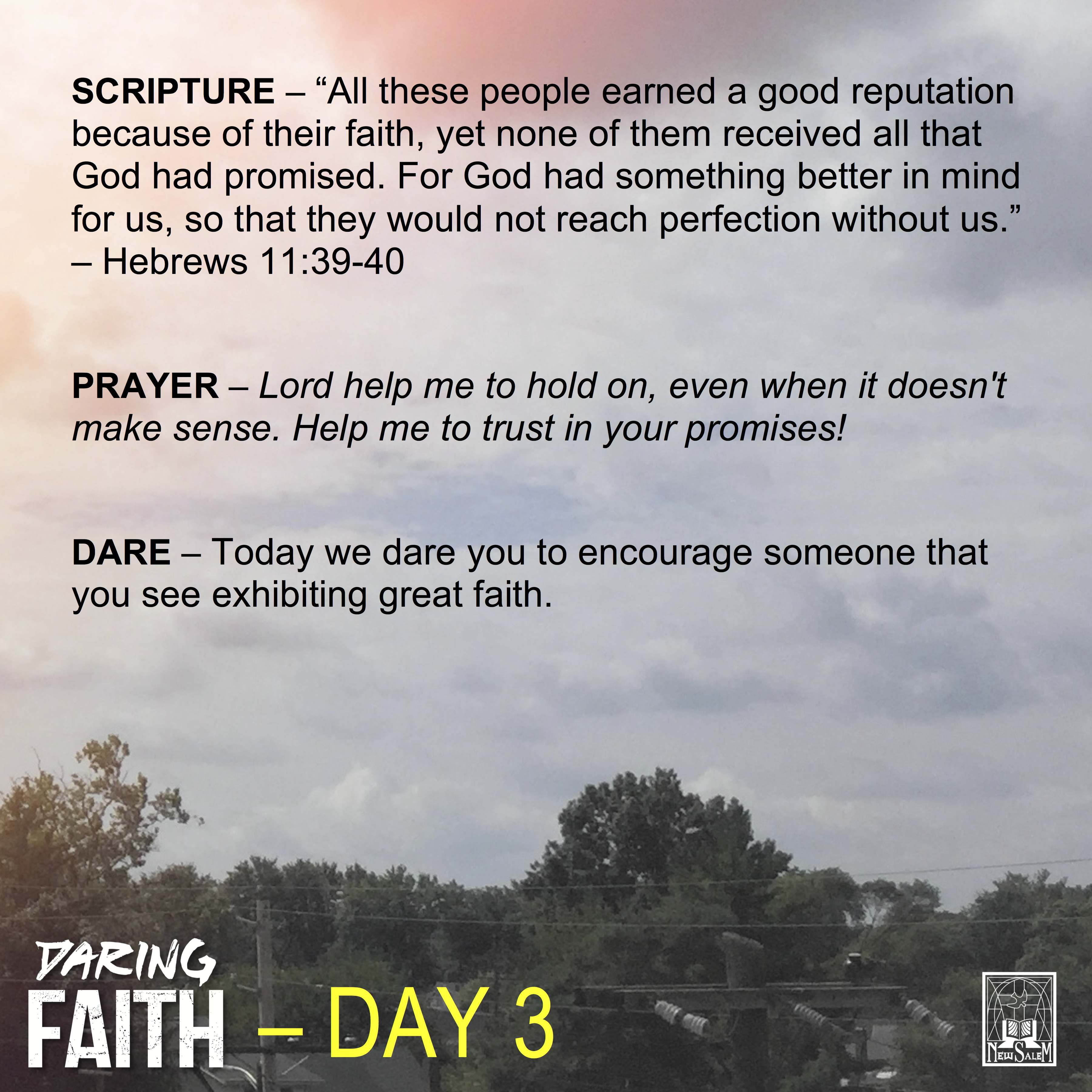 Daring Faith Devotional - Day 3