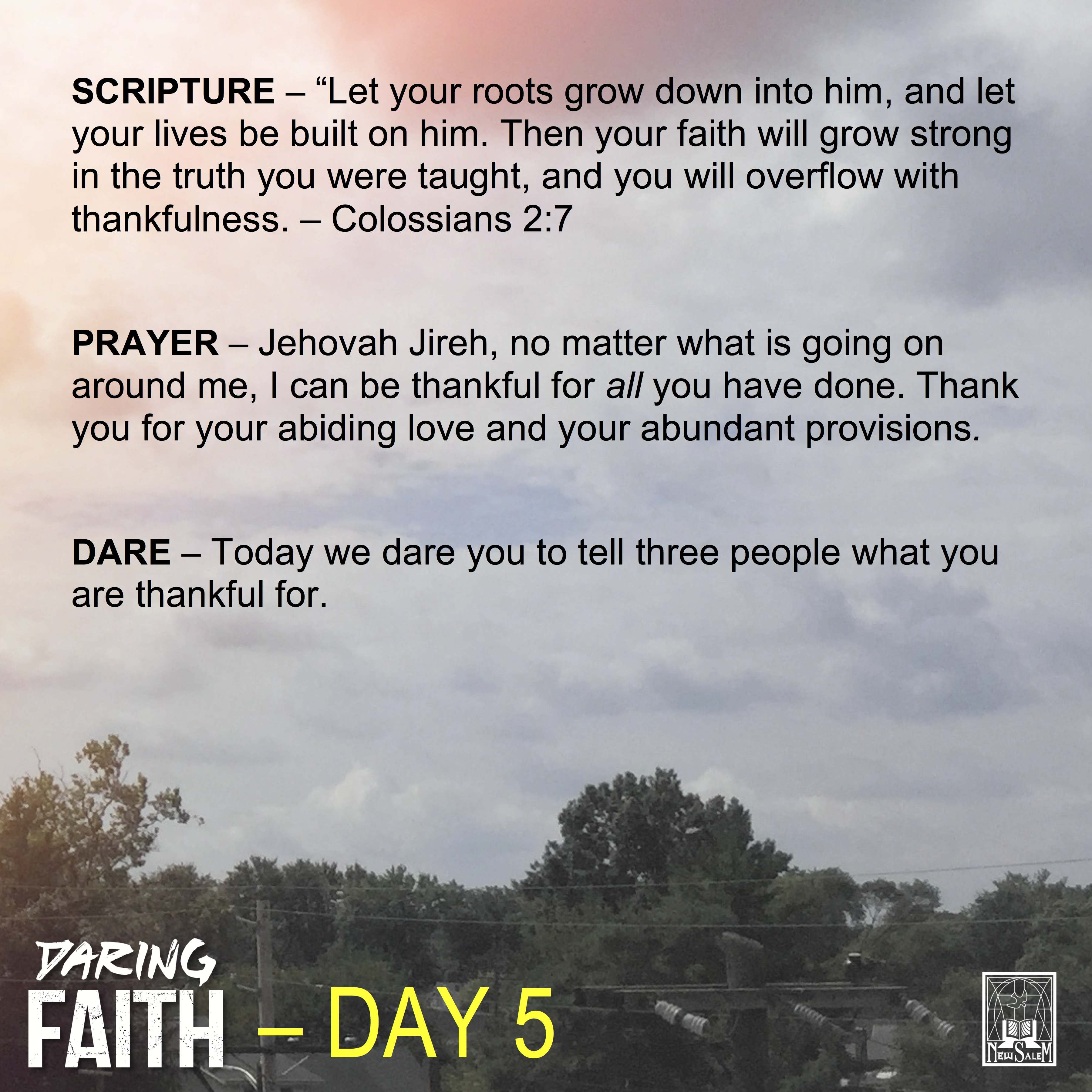 Daring Faith Devotional - Day 5