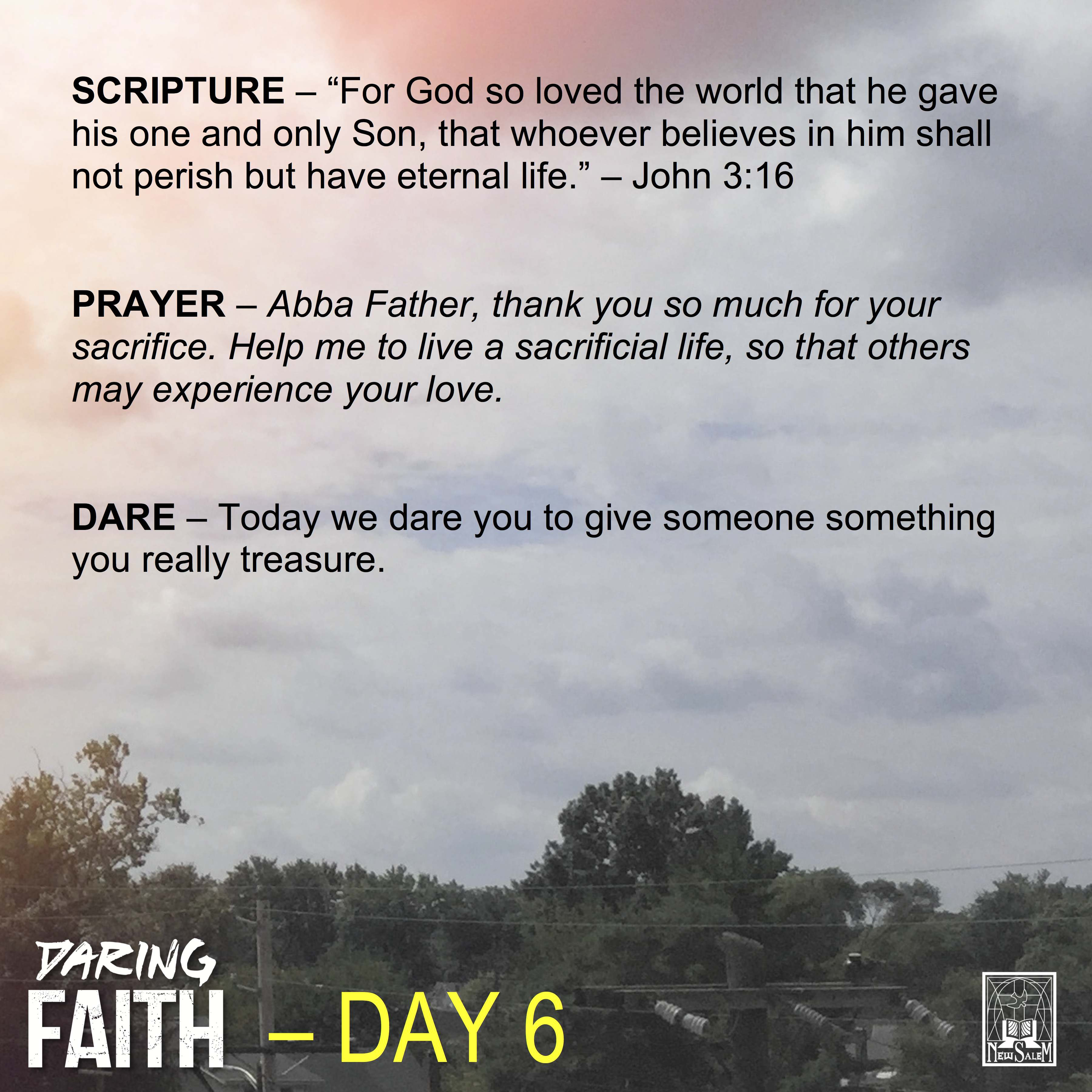 Daring Faith Devotional - Day 6