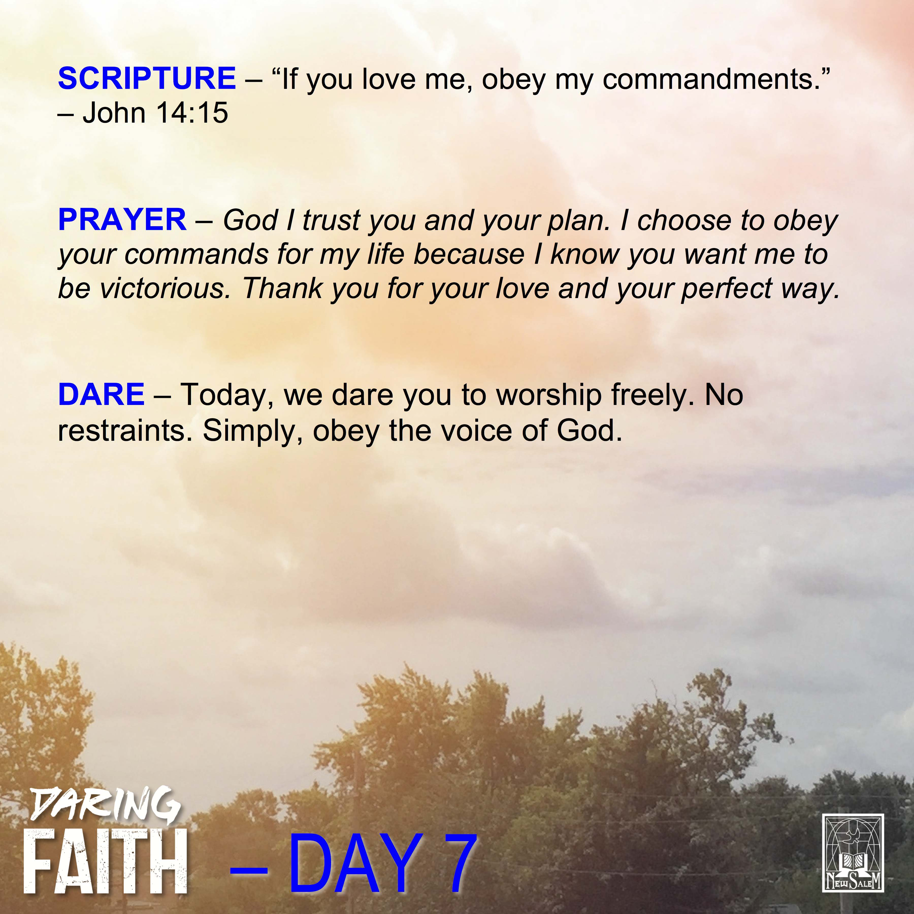 Daring Faith Devotional - Day 7