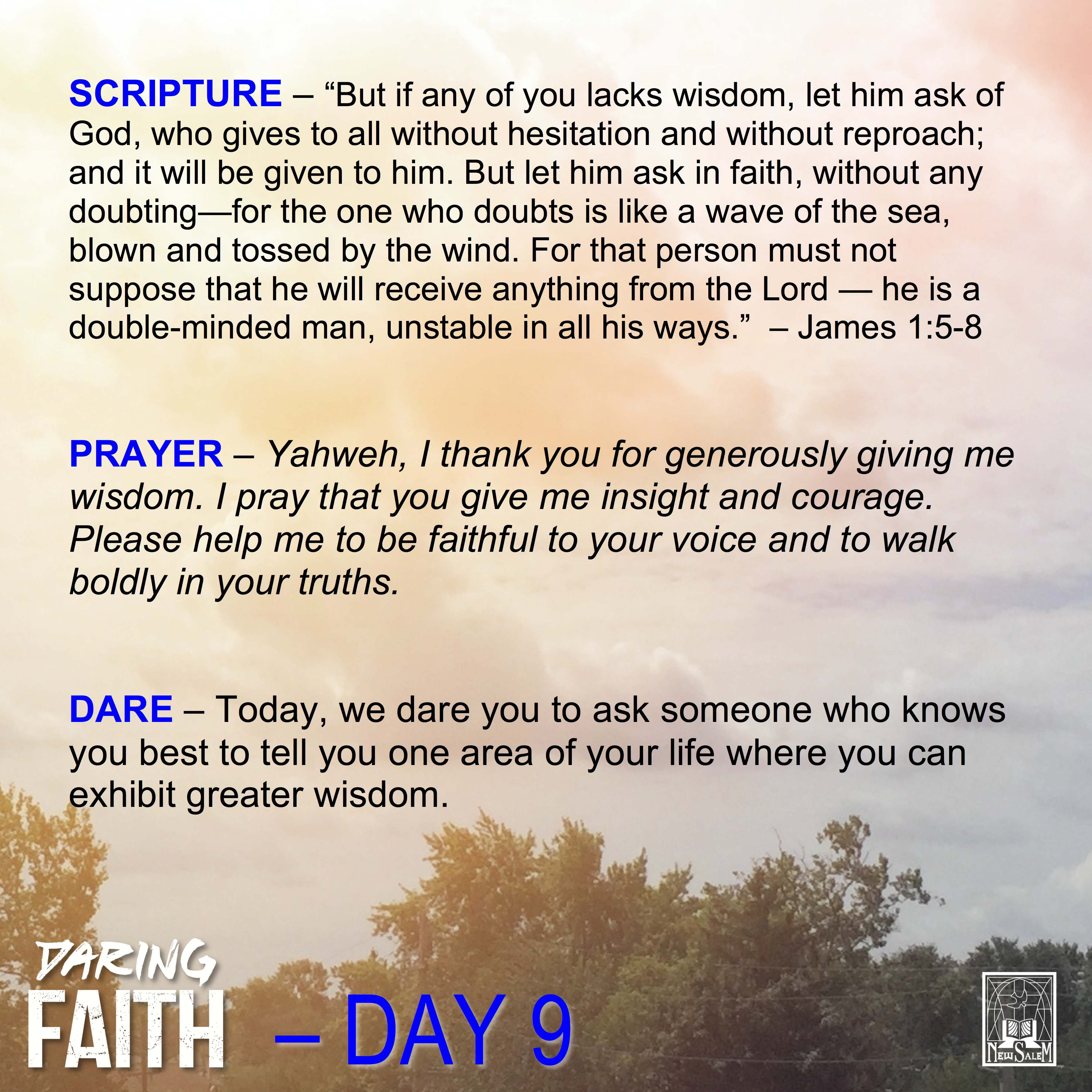 Daring Faith Devotional - Day 9