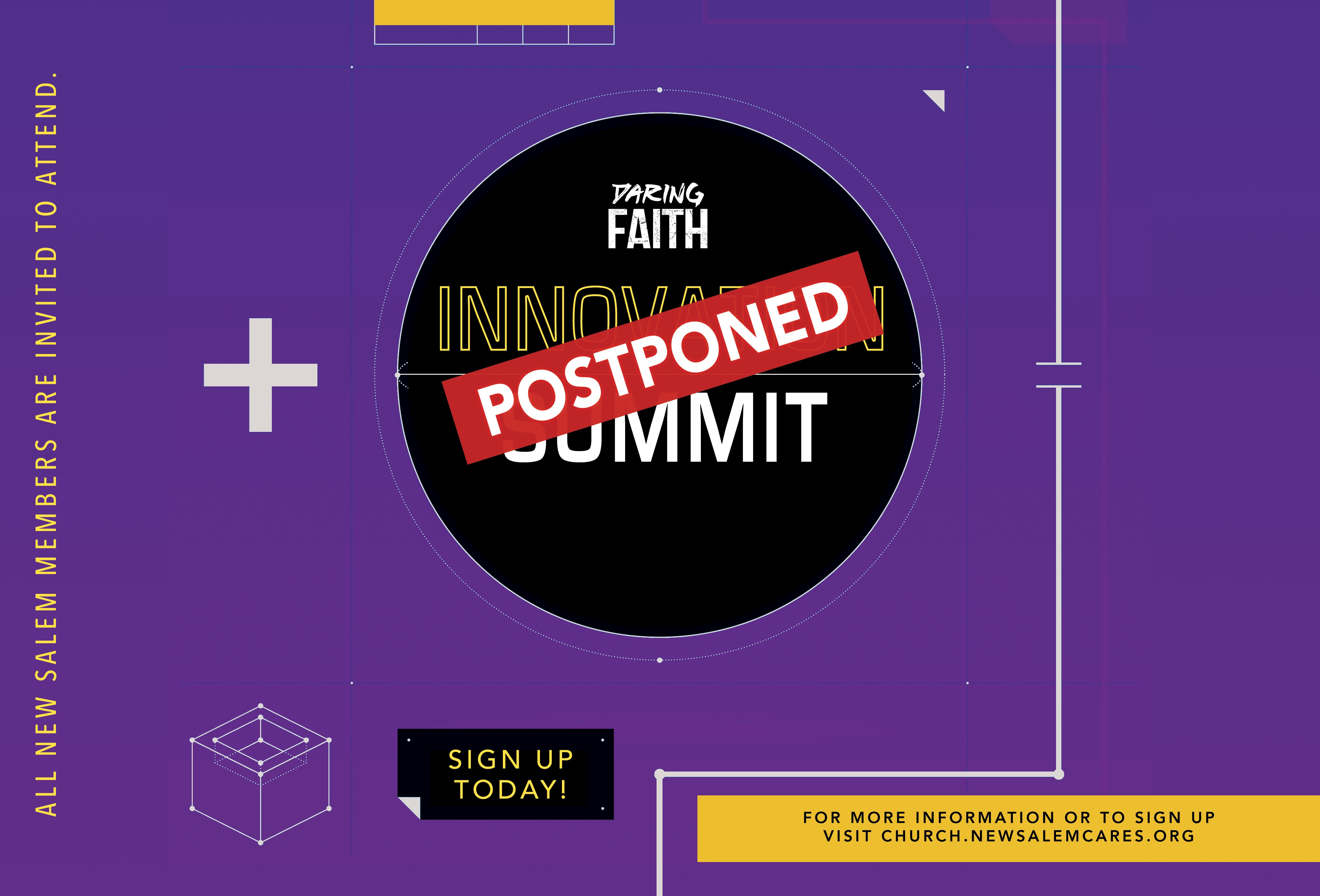Innovation Summit is Postponed