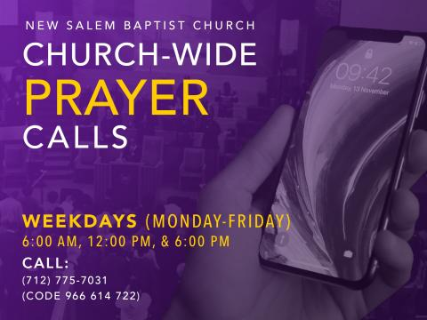 Church-Wide Prayer Calls